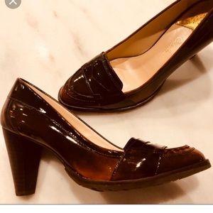"""NWT Cole Haan Bronze Patent Pumps 3.5"""" Heel"""